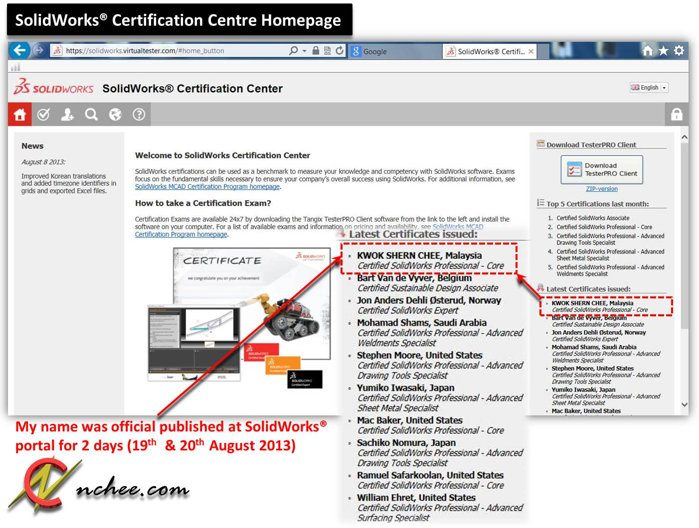 Certified SolidWorks® Professional in Mechanical Design | NCHEE Life ...